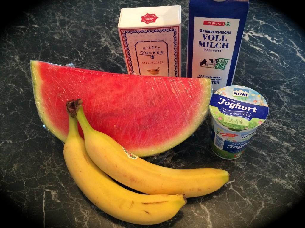 Zutaten Wassermelonenshake
