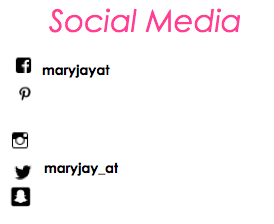 Maryjay Social Media