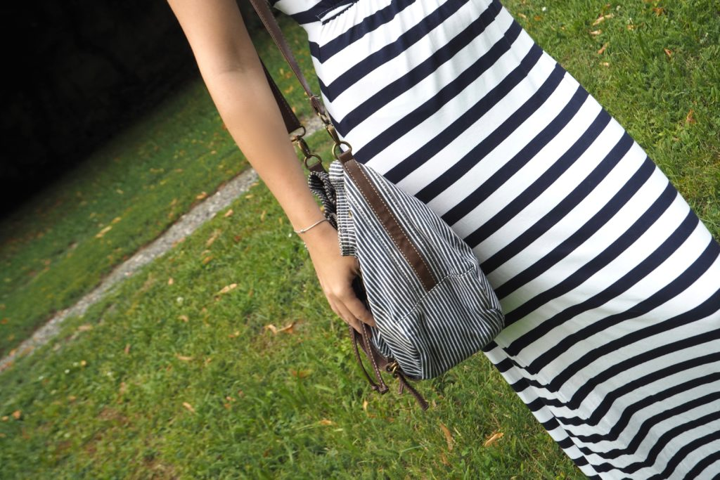 #1country7looks Stripes Outfit Handbag