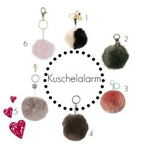 Bommel Schlüssel- oder Taschenanhänger