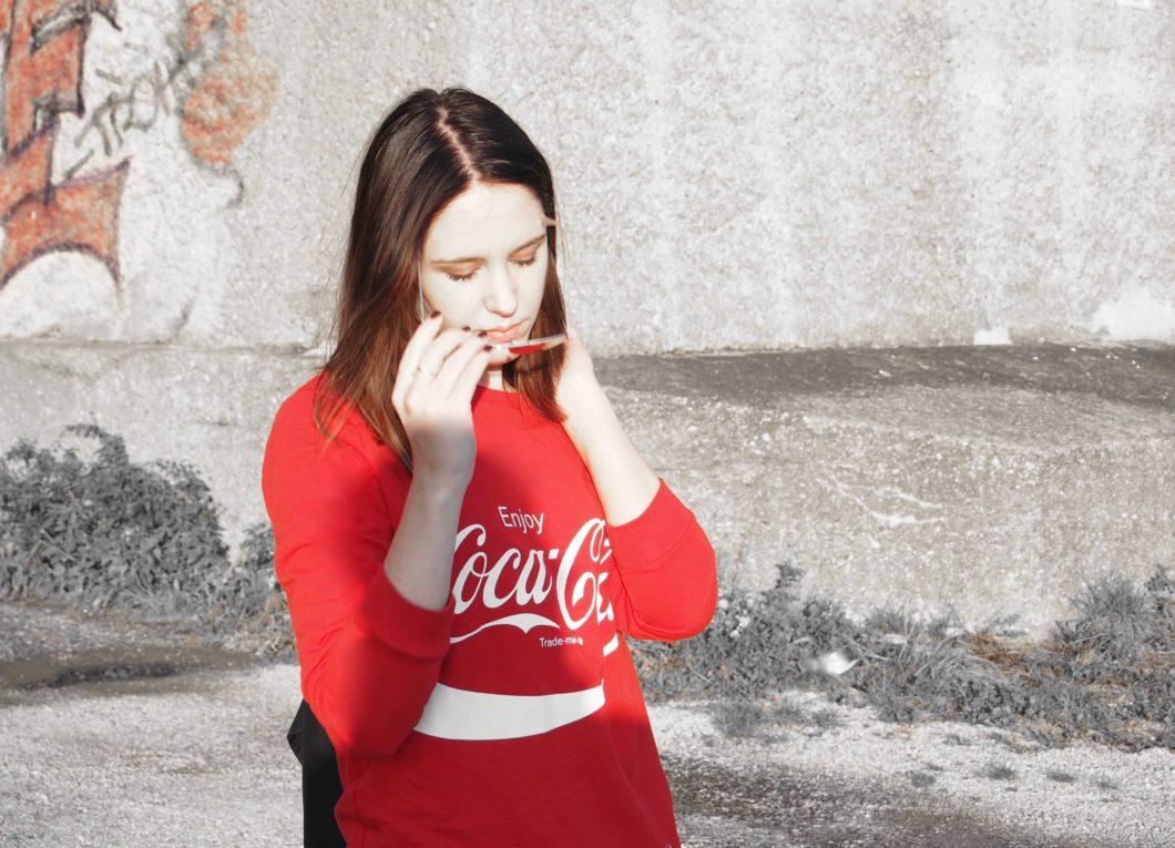 #1country-7looks: Blockabsatz Coca Cola Pullover