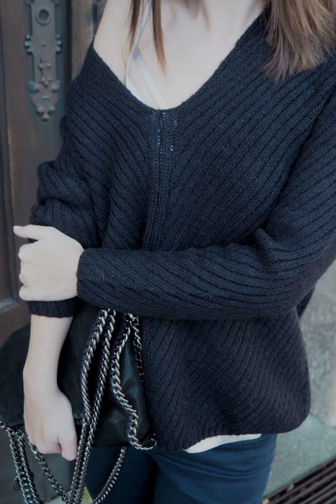 Metallic Details Top mit Oversize Pullover