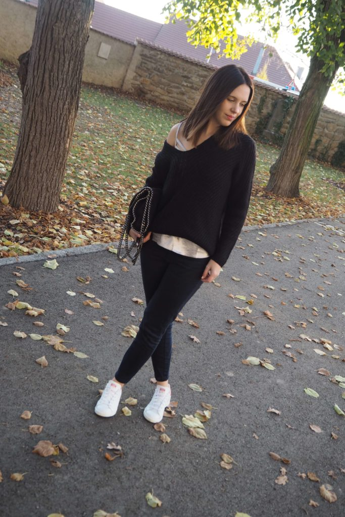 Metallic Shirt Oversize Pullover Outfit