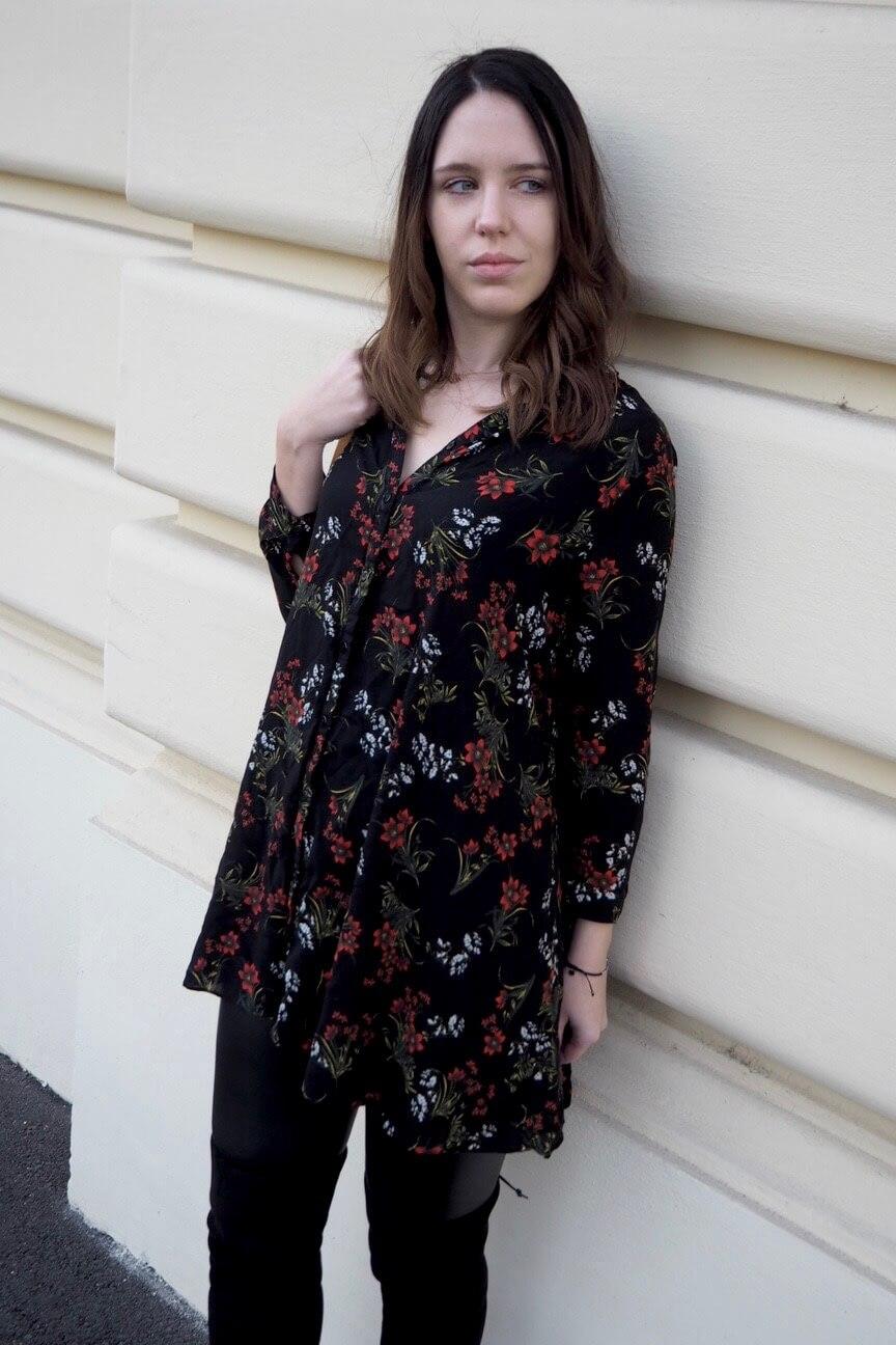 Winterflowers Dress Blumenrpint Dress Zara