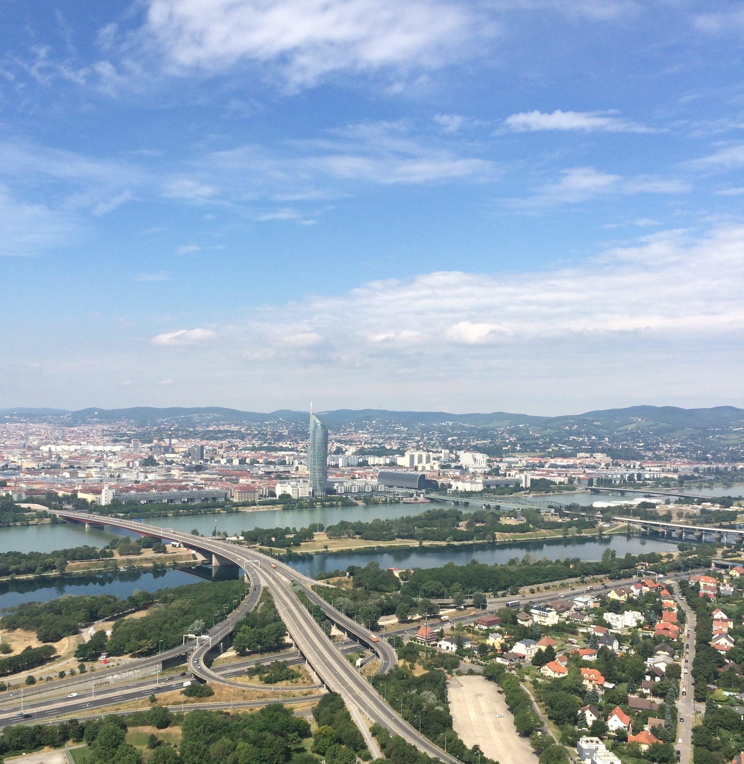 Sicht vom Donauturm Wien
