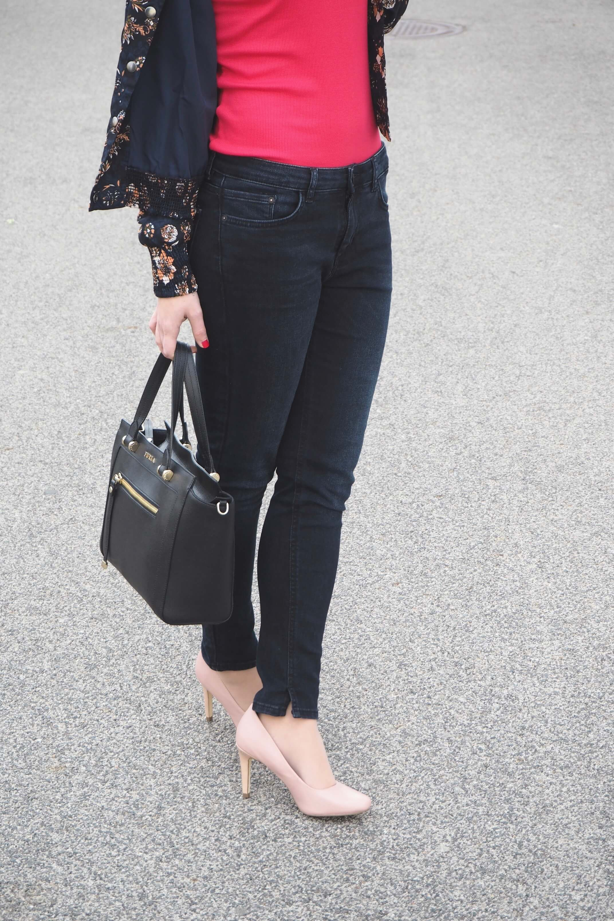 Outfit Details hot pink and rosé Pumps