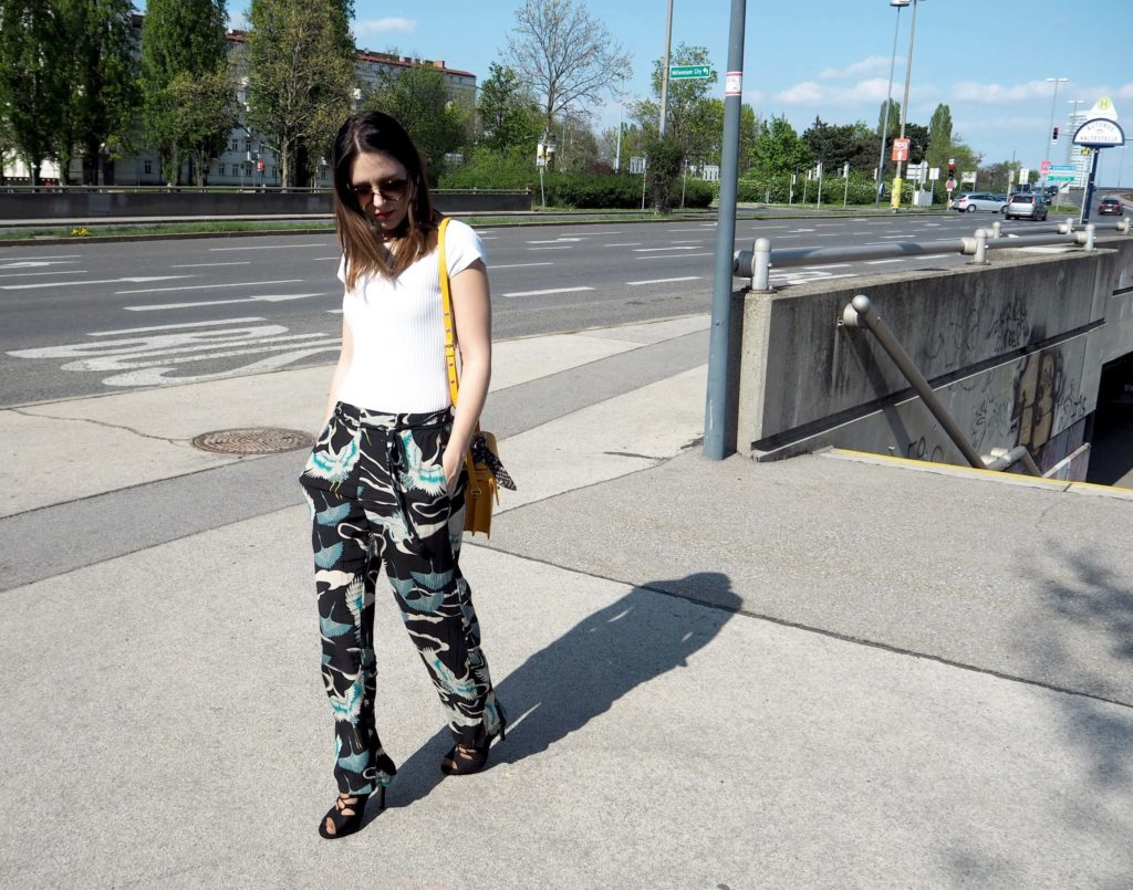 Streetstyle Statement Earrings and Palazzohose
