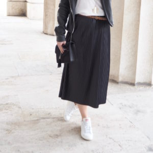 Plissee Pleated Midi Skirt