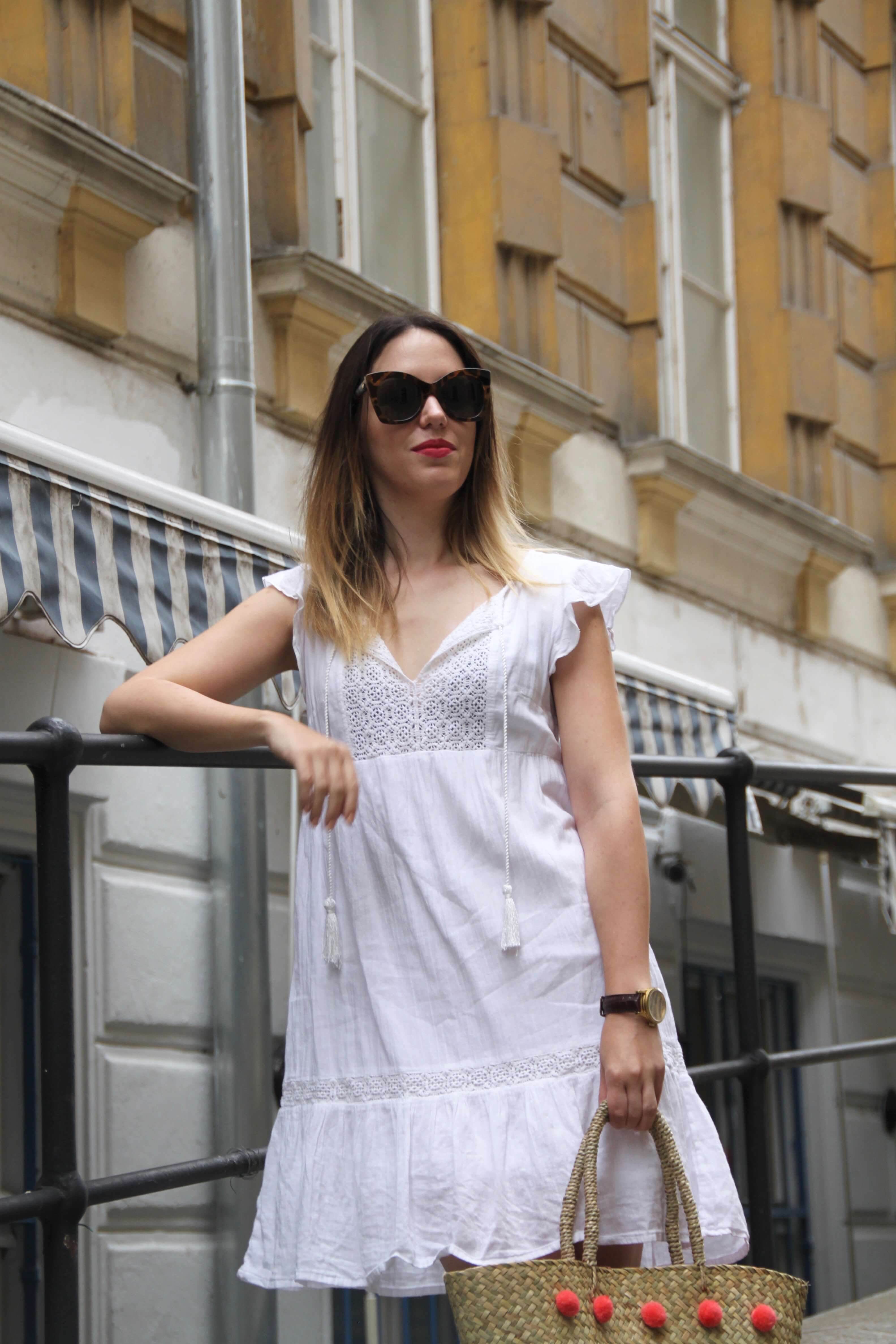 Summeroutfit white dress