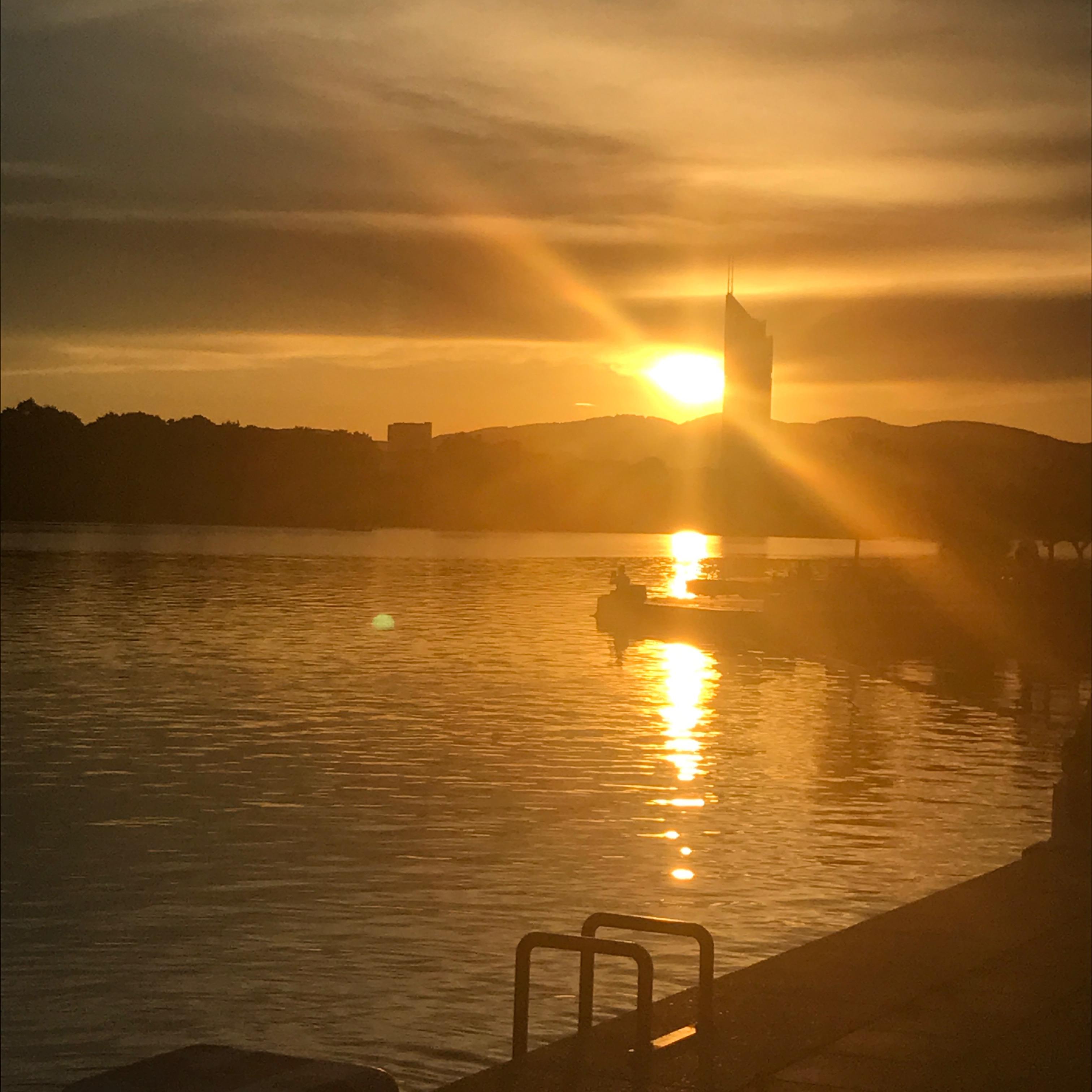 Sonnenuntergang CopaBeach Vienna