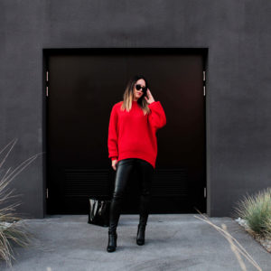 roter Pullover H&M Trendfarbe Rot