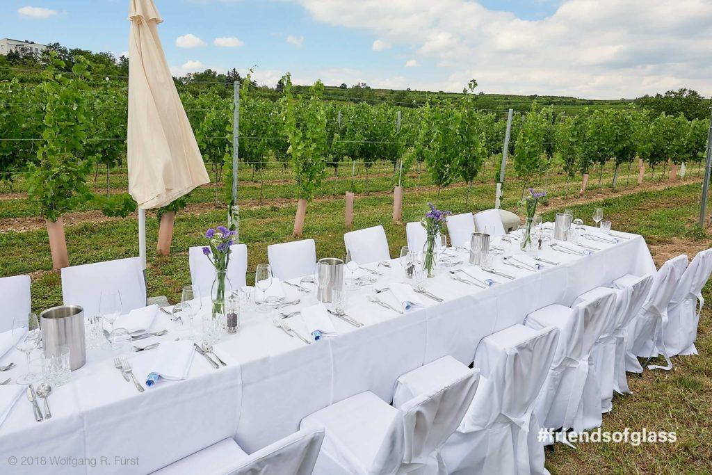 Dinner im Weingarten der Winzer Krems Sandgrube 13