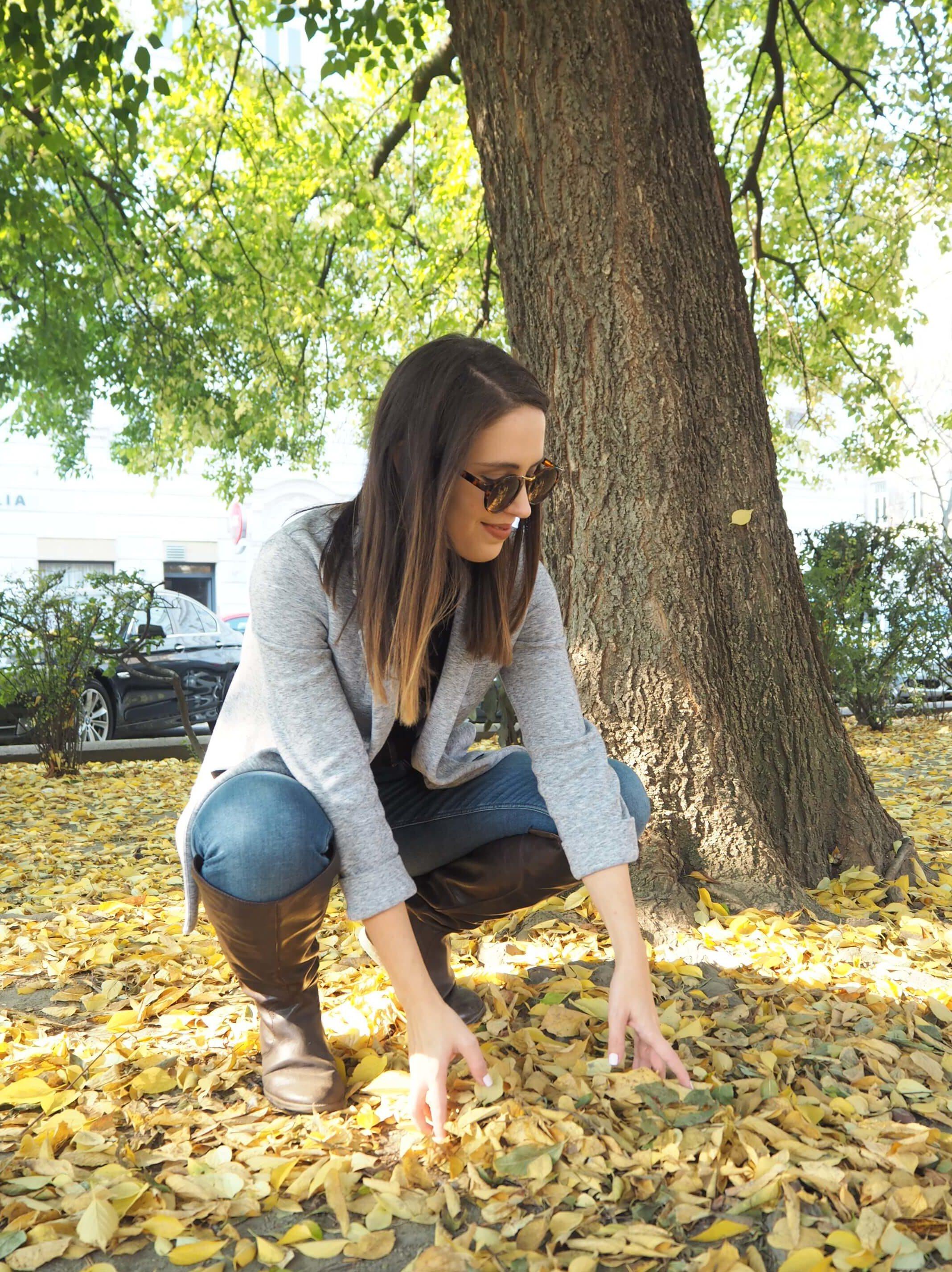 Herbstoutfit mit Blazer