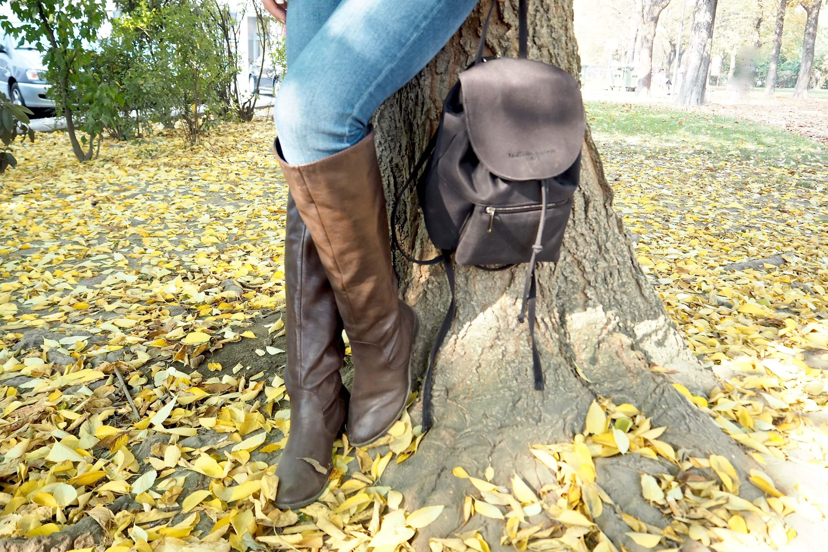 Herbstoutfit mit Stiefel
