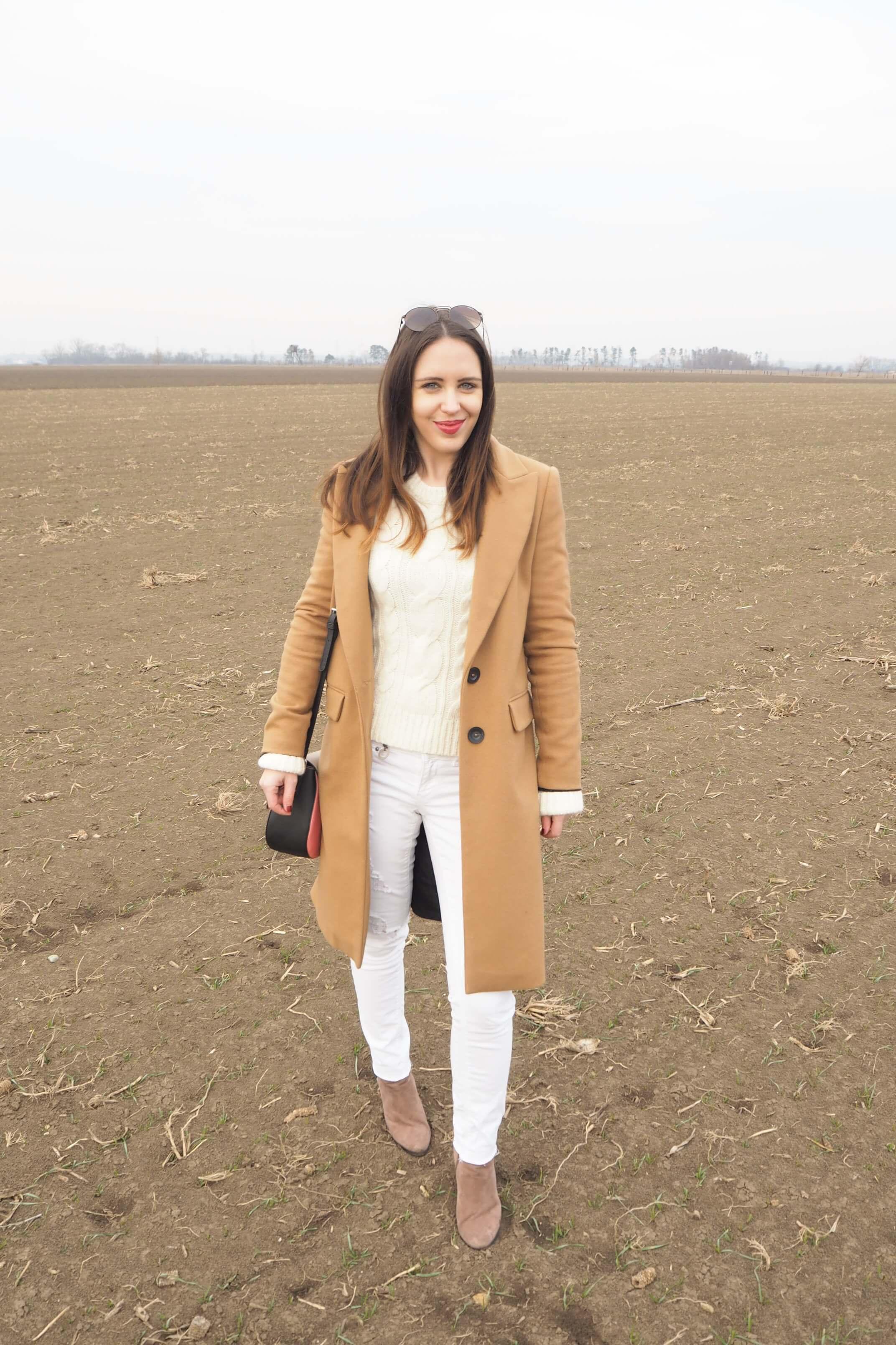 Camel Coat Outfit MaryJay
