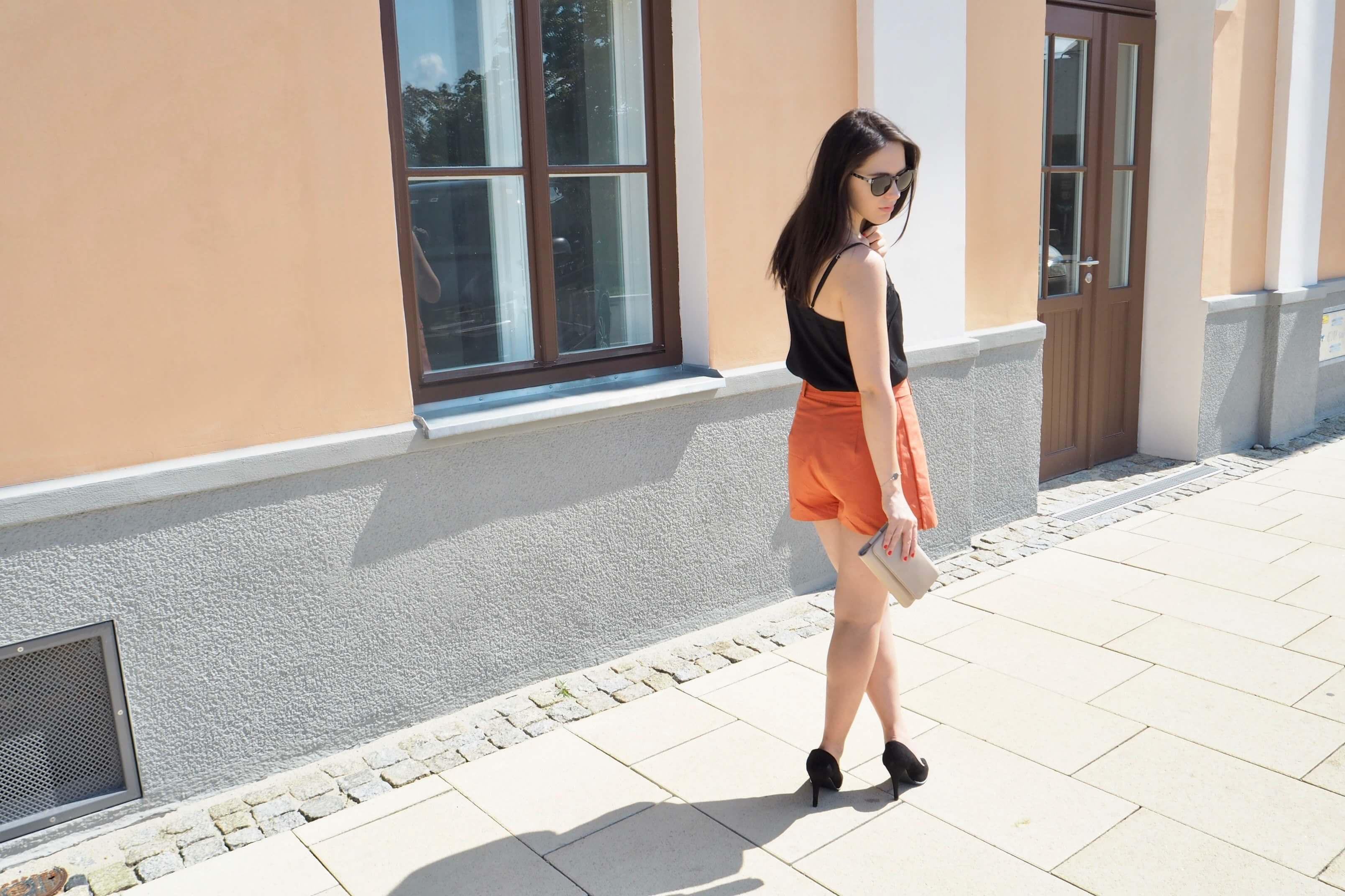 Hose Orangerot Trendfarbe