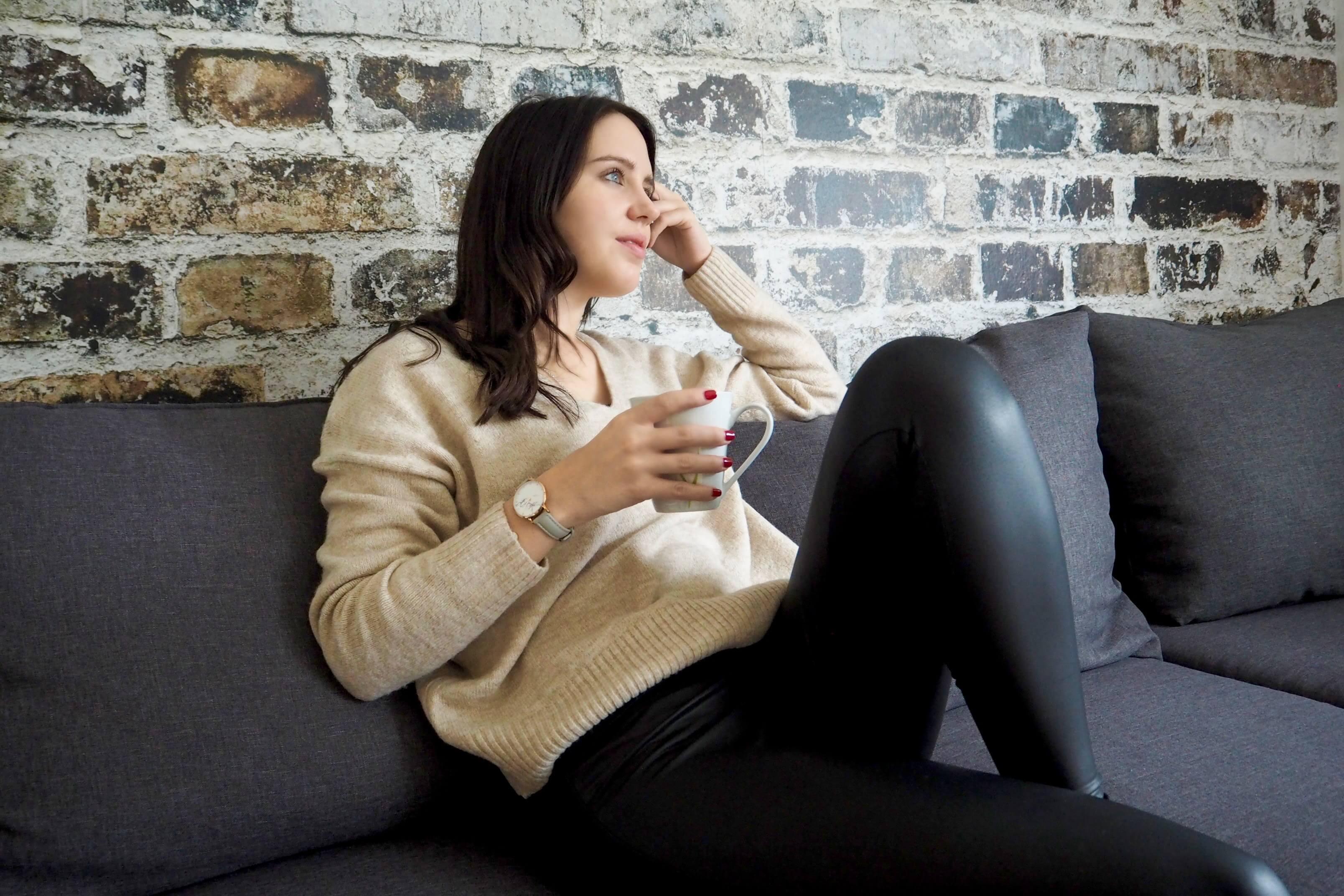 Kuscheloutfit im Herbst Pullover