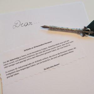 30 Briefe an 30 besondere Personen