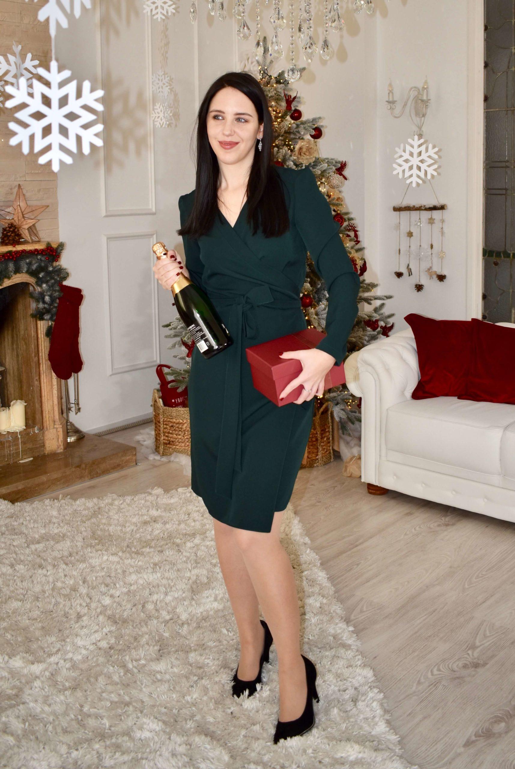 Weihnachtsdinner Outfit Kleid
