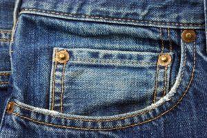 Jeanstascshe für Taschenuhr