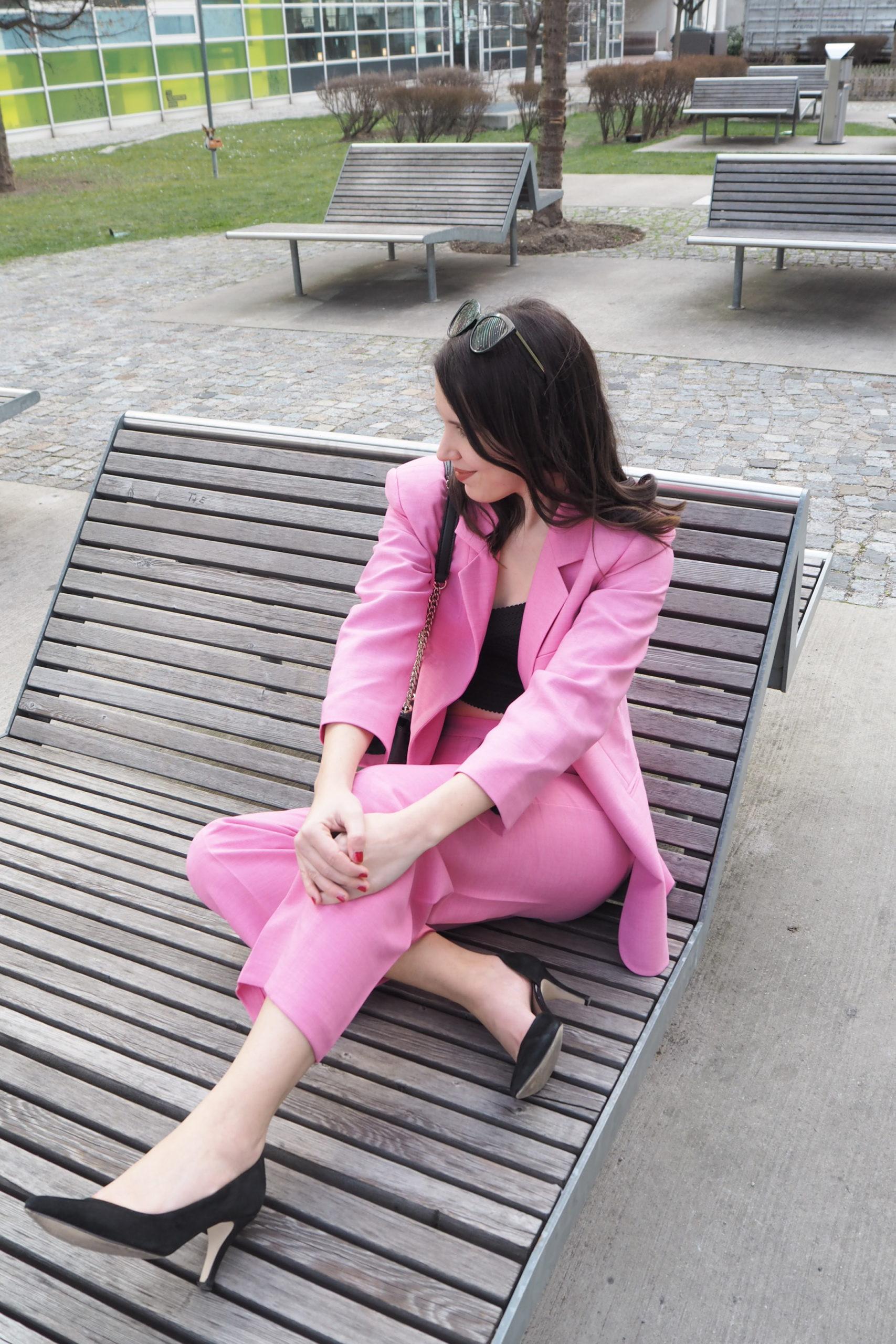 Hosenzug pinkfarben